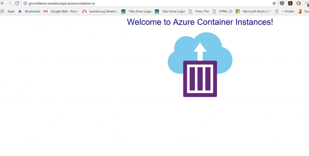 Microsoft Azure Container Instances: erste Eindrücke 2